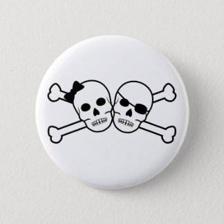 pirate bride and groom button