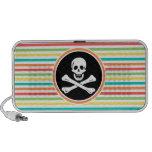 Pirate, Bright Rainbow Stripes iPod Speaker