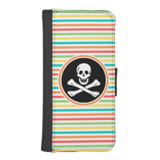 Pirate, Bright Rainbow Stripes iPhone 5 Wallets