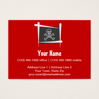 Pirate Brush Flag Business Card
