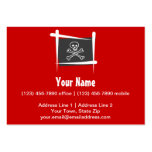 Pirate Brush Flag Business Card Template