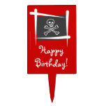 Pirate Brush Flag Cake Toppers