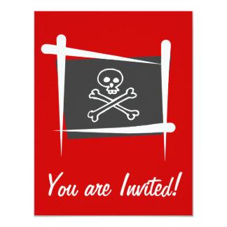 Pirate Brush Flag Card