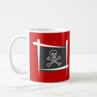 Pirate Brush Flag Coffee Mug