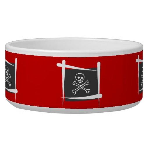 Pirate Brush Flag Dog Water Bowl