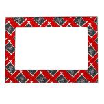 Pirate Brush Flag Frame Magnet