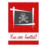 Pirate Brush Flag Invite