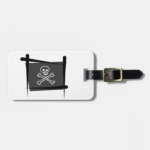 Pirate Brush Flag Luggage Tag