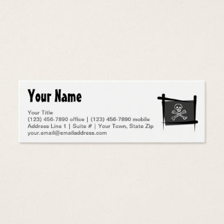Pirate Brush Flag Mini Business Card