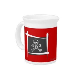 Pirate Brush Flag Pitchers