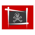 Pirate Brush Flag Post Cards