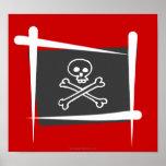 Pirate Brush Flag Poster