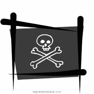 Pirate Brush Flag Statuette