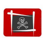 Pirate Brush Flag Vinyl Magnet