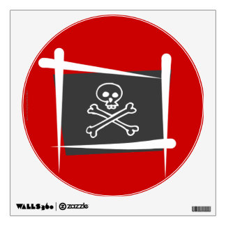 Pirate Brush Flag Wall Sticker