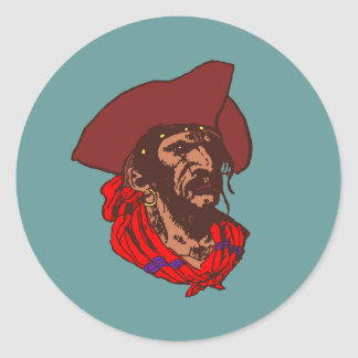 Pirate Buccaneer corsair pirate Classic Round Sticker
