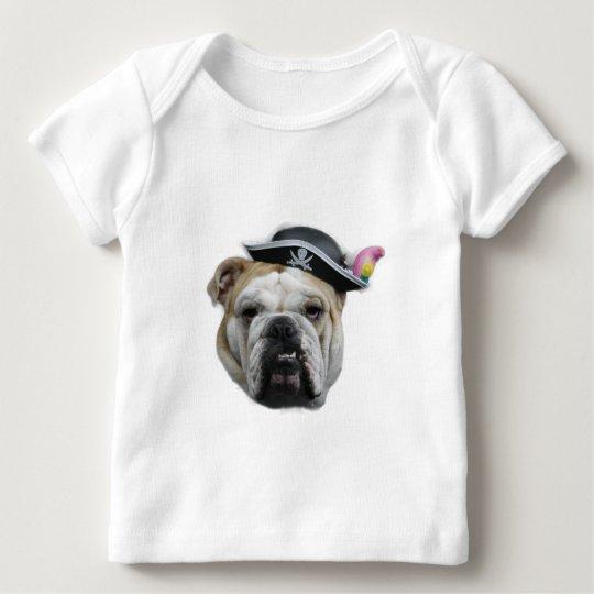 Pirate Bulldog Baby T-Shirt