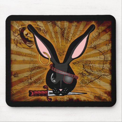 Pirate Bunneh Mousepads