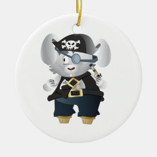 Pirate Bunny Ceramic Ornament