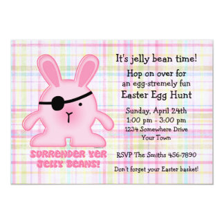 Pirate Bunny Easter Party Invitation