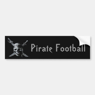 Pirate_by_mo013-741289, Pirate Football Bumper Sticker