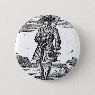 Pirate Calico Jack Rackham Button