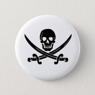 Pirate Calico Jack's Flag Pinback Button