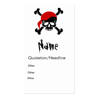 Pirate Calling Card Business Cards