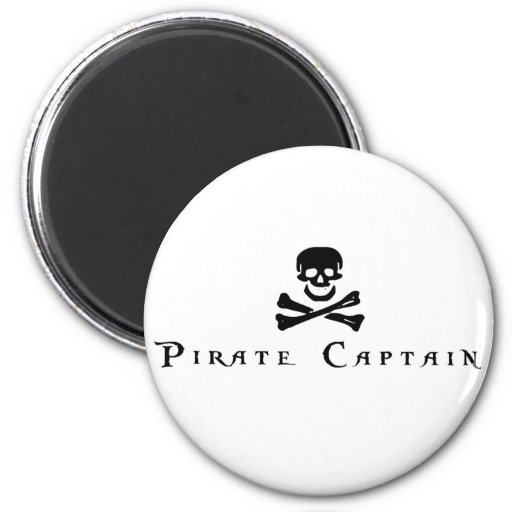 Pirate Captain 2 Inch Round Magnet