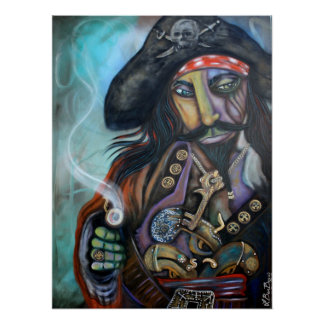 Pirate Captain Barbosa Poster