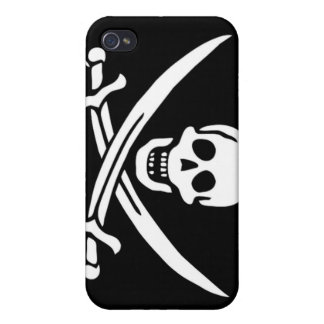 Pirate Captain Calico Jack Cases For iPhone 4