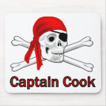 Pirate Captain Cook Mousepad