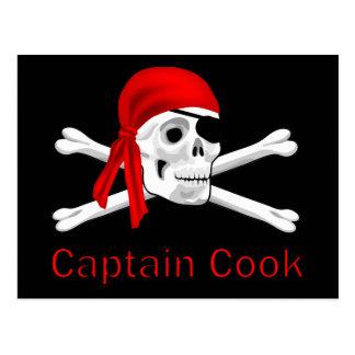Pirate Captain Cook Postcard