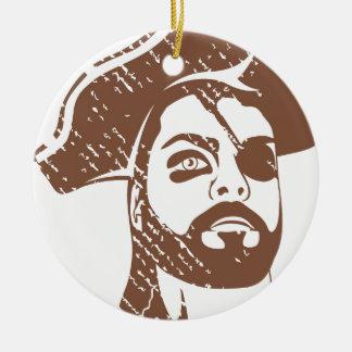 Pirate Captain grunge Ceramic Ornament