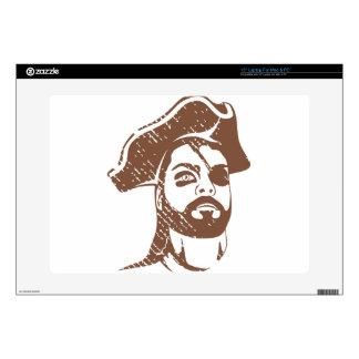 Pirate Captain grunge Laptop Skin
