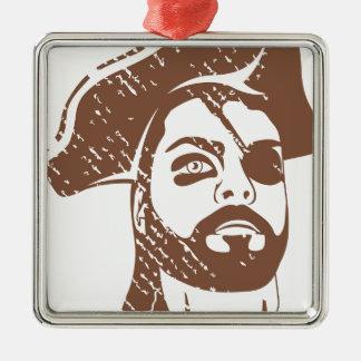 Pirate Captain grunge Metal Ornament