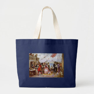 Pirate Captain Kidd in NY Harbor Large Tote Bag