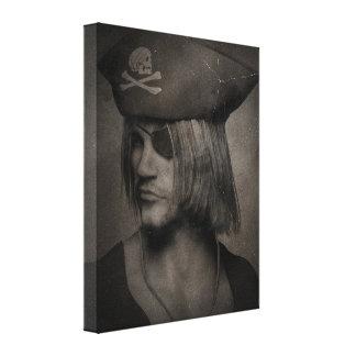 Pirate Captain Portrait - Antique Effect Canvas Print