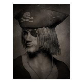 Pirate Captain Portrait - Antique Effect Postcard