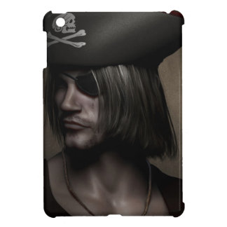 Pirate Captain Portrait iPad Mini Covers