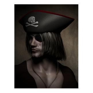 Pirate Captain Portrait Postcard