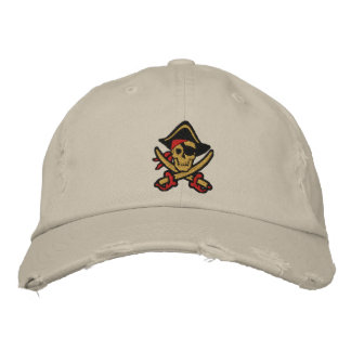 Pirate Captain Skull Embroidered Cap