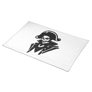 Pirate Captain Skull Placemat