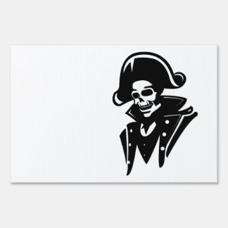 Pirate Captain Skull Yard Sign