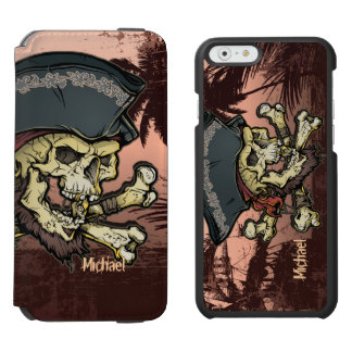 Pirate Captain Skull Incipio Watson™ iPhone 6 Wallet Case