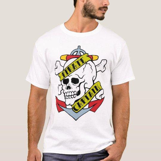 Pirate Captain Tattoo T-Shirt