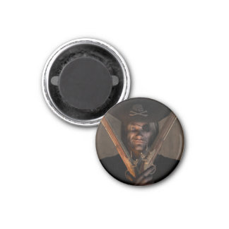 Pirate Captain with Pistols Magnet