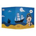 Pirate Captain with Ship Kids Binder binder