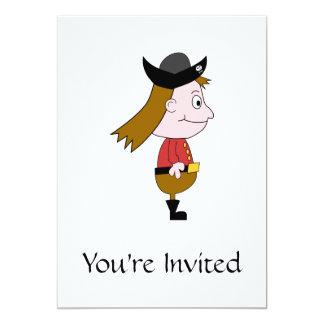 "Pirate Cartoon Character. 5"" X 7"" Invitation Card"