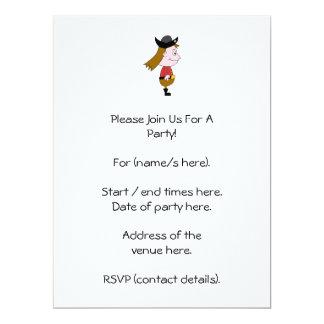 Pirate Cartoon Character. 6.5x8.75 Paper Invitation Card